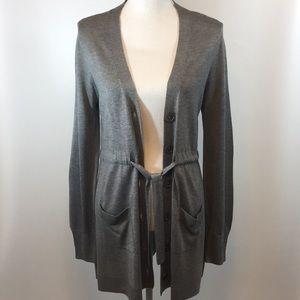 OneA Bamboo Tie Waist Cardigan Sweater